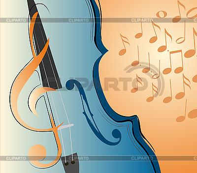바이올린 및 메모 | 벡터 클립 아트 |ID 3074677