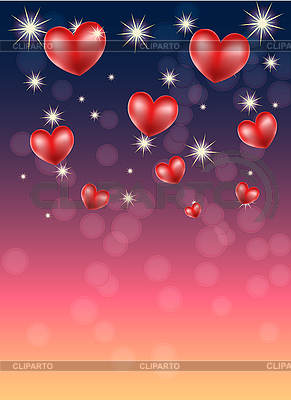 Romantic background with hearts | Stock Vector Graphics |ID 3119863