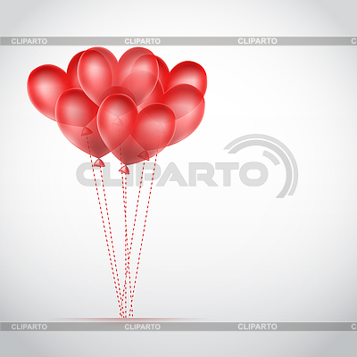 Romantic card with air balloons | Stock Vector Graphics |ID 3119871