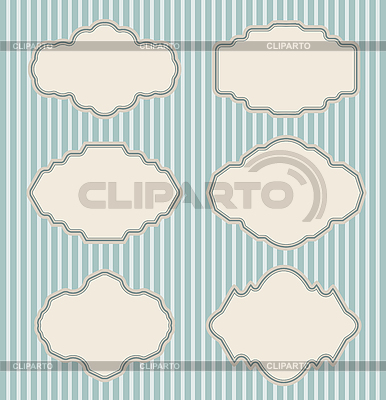 Set of vintage frames | Stock Vector Graphics |ID 3145099