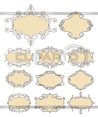 Set of vintage frames | Stock Vector Graphics |ID 3145130