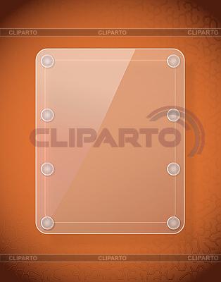 皮革质地的玻璃框架 | 向量插图 |ID 3145132