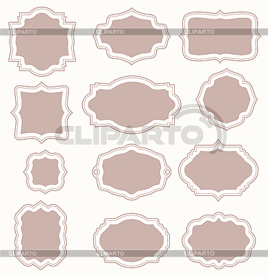 Set of vintage frames | Stock Vector Graphics |ID 3145156