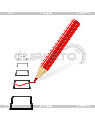 마크와 연필을 확인 | 벡터 클립 아트 |ID 3159532