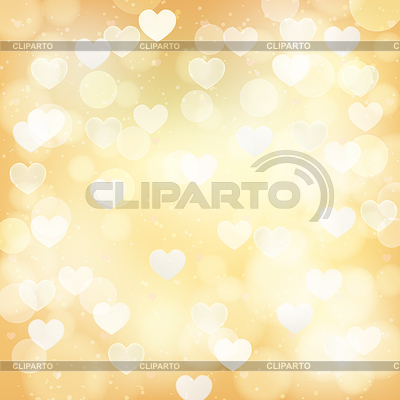 Abstract golden background with transparent hearts | Stock Vector Graphics |ID 5498218