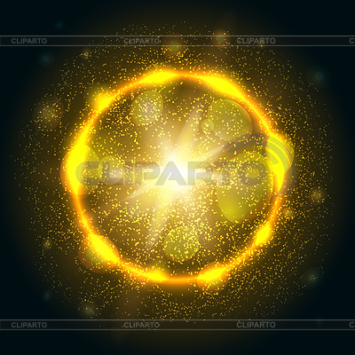 Golden lights burst explosion | Stock Vector Graphics |ID 5825116