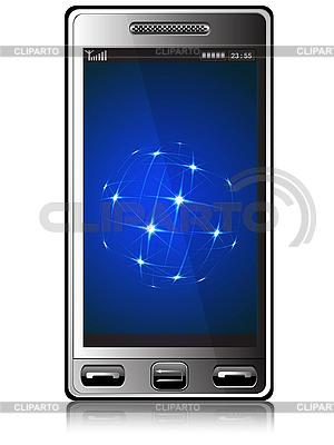 Handy und Sterne | Illustration mit hoher Auflösung |ID 3045648