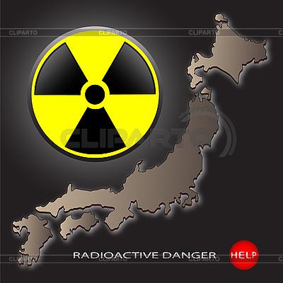 Radioaktive Gefahr in Japan | Illustration mit hoher Auflösung |ID 3045666