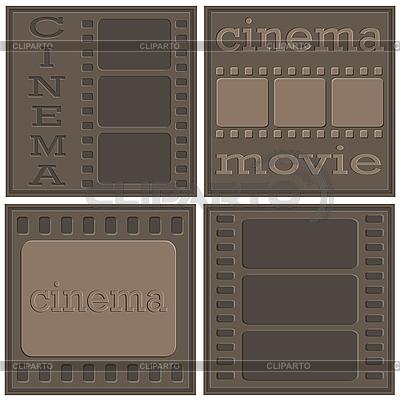 Cine iconos | Ilustración vectorial de stock |ID 3047468