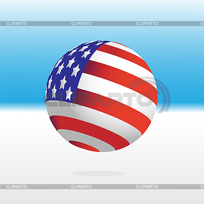 U.S. Flag and ball | Stock Vector Graphics |ID 3071863
