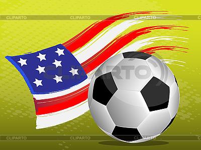 Flag of USA and soccer ball | Stock Vector Graphics |ID 3071888