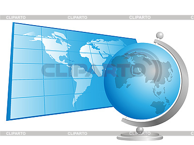 Globe and world map | Stock Vector Graphics |ID 3071974