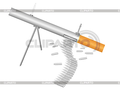 Machine gun - cigarette | Stock Vector Graphics |ID 3072233
