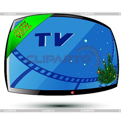 Neujahr und TV | Stock Vektorgrafik |ID 3072291