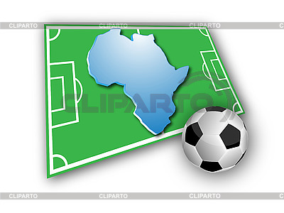 Soccer ball and Africa map | High resolution stock illustration |ID 3072449