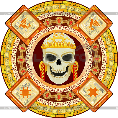 Aztec god of death | Stock Vector Graphics |ID 3063029