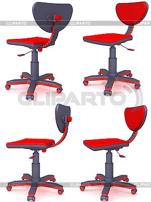 Rote Bürostühle | Illustration mit hoher Auflösung |ID 3063031