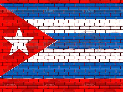Flagge von Kuba auf einer Ziegelmauer | Stock Vektorgrafik |ID 3063051