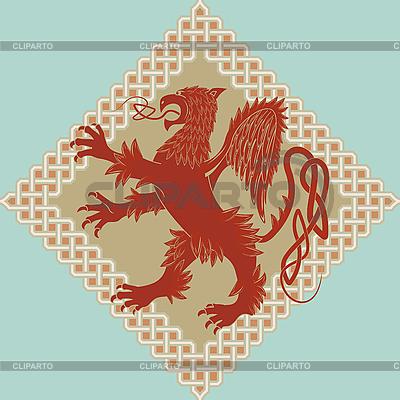 Medieval grifo heráldico | Ilustración vectorial de stock |ID 3071192