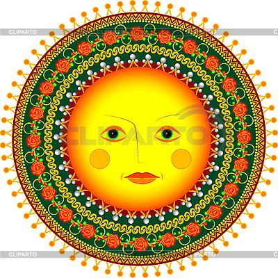 Sun in Russian folk style | Stock Vector Graphics |ID 3071204