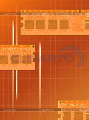 Elektroniczne karty pamięci | Klipart wektorowy |ID 3082626