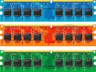 电脑记忆卡 | 向量插图 |ID 3082629
