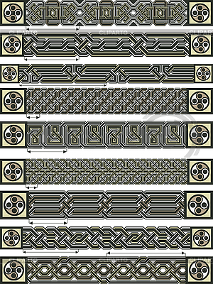 Орнаменты в кельтском стиле | Векторный клипарт |ID 3105732