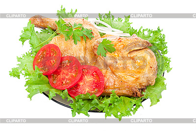 Grilled chicken with fresh vegetables  | High resolution stock photo |ID 3044231