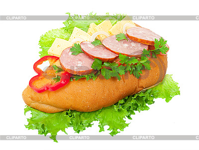 Sausage sandwich | High resolution stock photo |ID 3044314