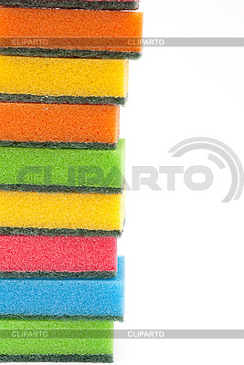 Multi-coloured kitchen sponges | High resolution stock photo |ID 3044498