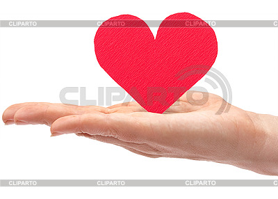 Red paper heart in hand | High resolution stock photo |ID 3057368
