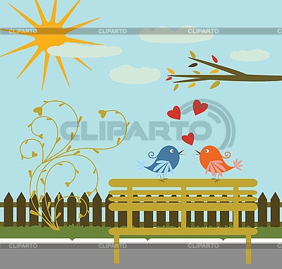 Greeting card with birds   Stock Vector Graphics  ID 3058223