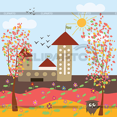 Autumn city landscape | Stock Vector Graphics |ID 3058297