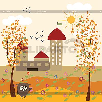 Autumn city landscape | Stock Vector Graphics |ID 3058299