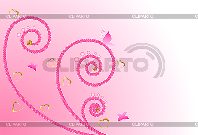 Pink floral design | Stock Vector Graphics |ID 3069310