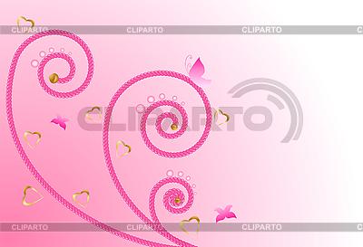 분홍색 꽃 무늬 디자인 | 벡터 클립 아트 |ID 3069310