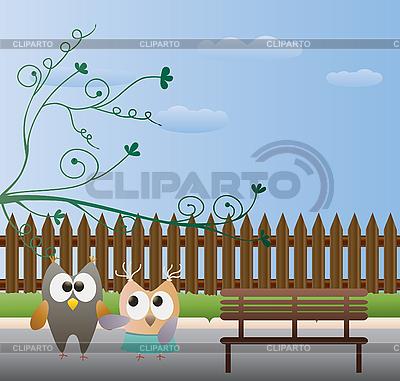 Kartkę z życzeniami z ptakami | Klipart wektorowy |ID 3069450