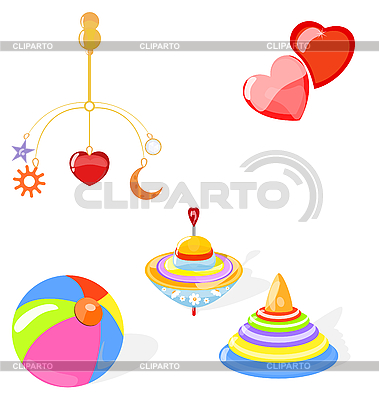 Set of toys | Stock Vector Graphics |ID 3069600