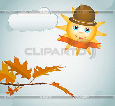 Autumn leaves and sun | Stock Vector Graphics |ID 3090716
