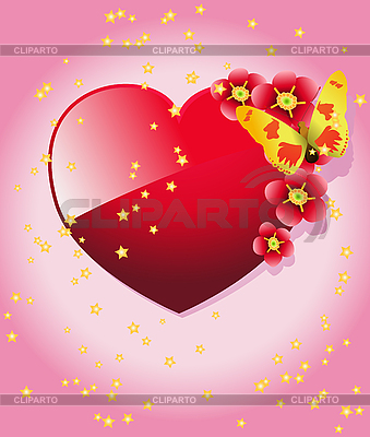 Heart and butterfly | Stock Vector Graphics |ID 3116555