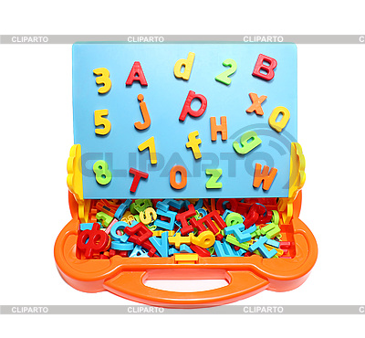 Toy school board with letters | High resolution stock photo |ID 3040702