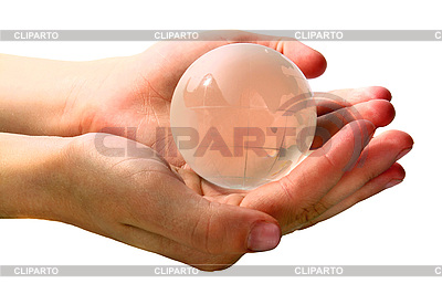Glass globe in hands | High resolution stock photo |ID 3041070