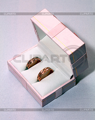 Two wedding rings in pink box | High resolution stock photo |ID 3041350