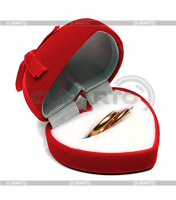 Two wedding rings in red box | High resolution stock photo |ID 3041351