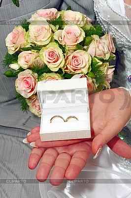 Wedding rings in white box   High resolution stock photo  ID 3041382