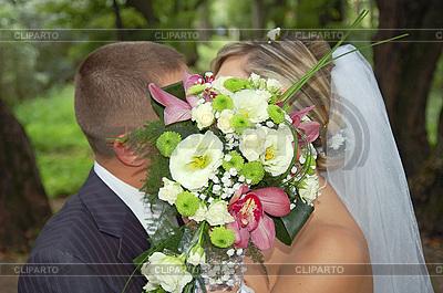 신랑과 약혼녀 키스 | 높은 해상도 사진 |ID 3041423