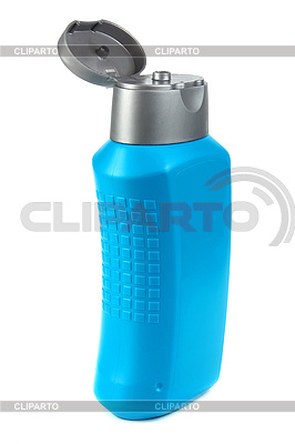 Blue bottle for shampoo | High resolution stock photo |ID 3041484