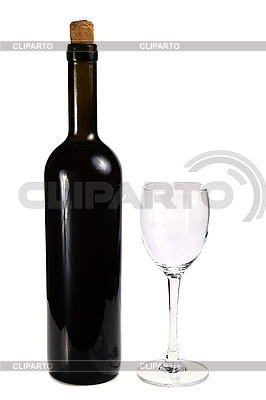 Bottle with red wine and glass   High resolution stock photo  ID 3041526