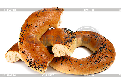Bagel with poppyseeds   High resolution stock photo  ID 3042225