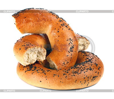 Bagel with poppyseeds   High resolution stock photo  ID 3042226